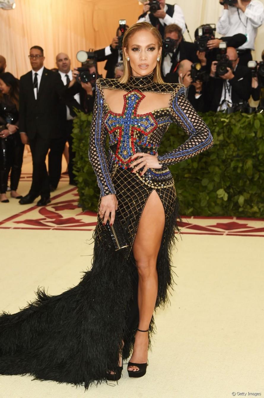 Jennifer Lopez de Balmain no Met Gala 2018